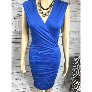 Mossimo Ruched Mermaid Crossover wrap  Dress Small